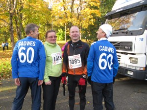 CADWES members before the start of 33 km cross country run 2 Oct, 2011.